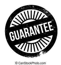 Guarantee stamp. Grunge design with dust scratches. Effects...