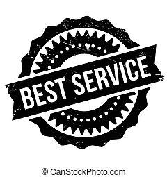 Best service stamp. Grunge design with dust scratches....