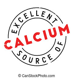 Excellent source of calcium stamp. Grunge design with dust...