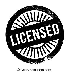 Licensed stamp. Grunge design with dust scratches. Effects...