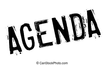 Agenda stamp. Grunge design with dust scratches. Effects can...