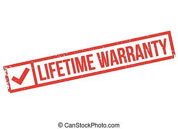 Lifetime warranty stamp