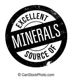 Excellent source of minerals stamp. Grunge design with dust...