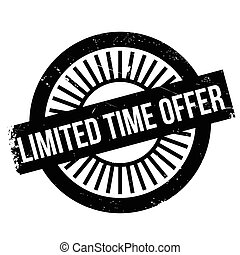 Limited time offer stamp. Grunge design with dust scratches....