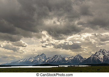 Jackson Lake, Wyoming - Clouds before the storm over Jackson...