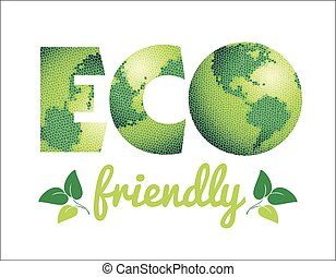 Vector illustration of Eco friendly concept.