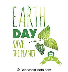 Vector illustration of Earth Day