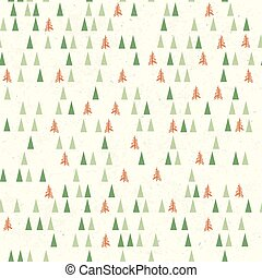 Christmas pattern with tree. Seamless background. Vector illustration. Template for Greeting Scrapbooking, Congratulations, Invitations.