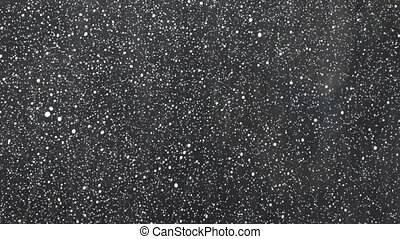 Beautiful background. White drops of rain on a black background.