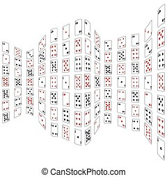 Abstraction from playing cards. Vec - Abstraction from...