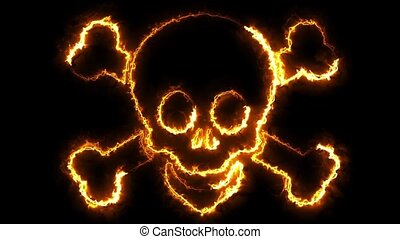 Skull Loop - You can use it as a background, compositing...