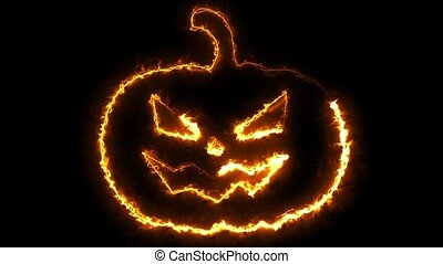 Pumpkin Loop - You can use it as a background, compositing...