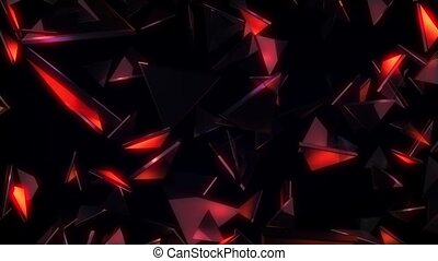 Glowing Glass Triangles VJ Loop - It is a cool animated...