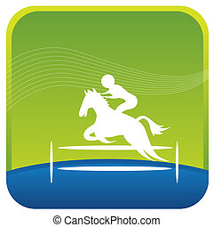 illustrative icon - human showing stunts on horse riding