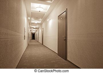 beautiful long corridor