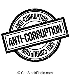 Anti-Corruption rubber stamp. Grunge design with dust...