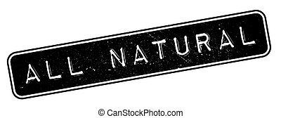 All Natural rubber stamp. Grunge design with dust scratches....