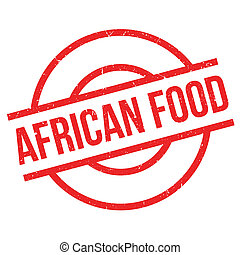 African Food rubber stamp. Grunge design with dust...