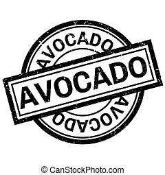Avocado rubber stamp. Grunge design with dust scratches....