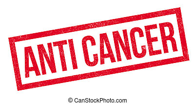 Anti Cancer rubber stamp. Grunge design with dust scratches....
