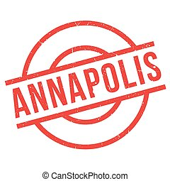 Annapolis rubber stamp. Grunge design with dust scratches....