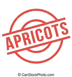 Apricots rubber stamp. Grunge design with dust scratches....