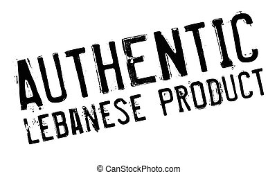 Authentic lebanese product stamp. Grunge design with dust...
