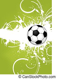 Soccer Ball - Soccer ball on grunge background, element for...