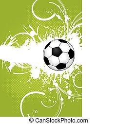 Soccer Ball - Soccer ball on grunge background, element for...