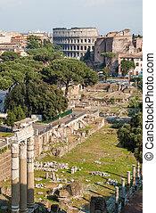 The Roman Forum Romanum in Rome - The Roman Forum (Latin:...