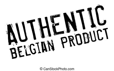Authentic belgian product stamp. Grunge design with dust...