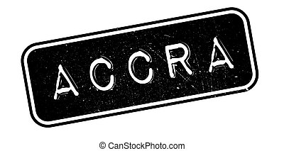 Accra rubber stamp. Grunge design with dust scratches....