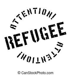 Refugee rubber stamp. Grunge design with dust scratches....