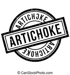 Artichoke rubber stamp. Grunge design with dust scratches....