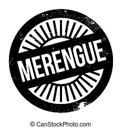 Famous dance style, Merengue stamp. Grunge design with dust...