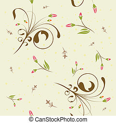 Floral seamless pattern, element for design, vector...