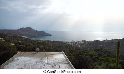 beautiful mountains panorama - mountains in Greece Crete...