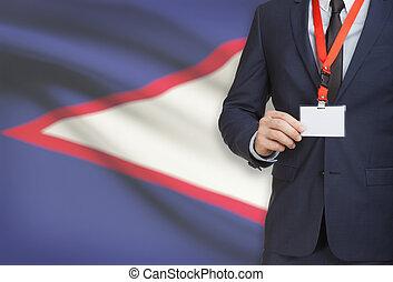 Samoa, nome, nazionale, -, bandiera, americano, Scheda,...