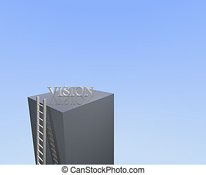 Ladder to Vision - Concept image of a ladder leading to...