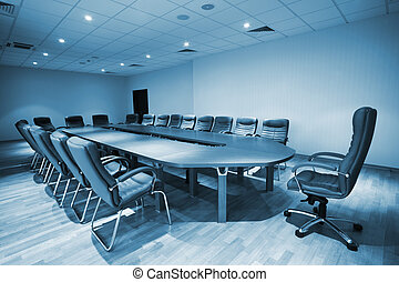 conference room - large table and chairs in a modern...