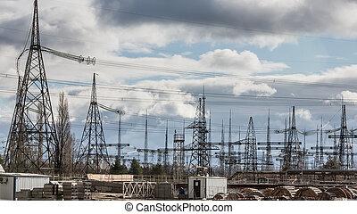 Chernobyl nuclear power plant - CHERNOBYL, UKRAINE - Nov 28,...