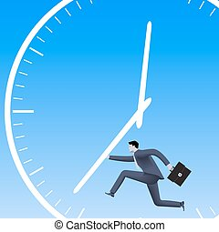 Speed up the process business concept