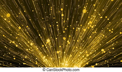 Yellow Glittering Particles Loop