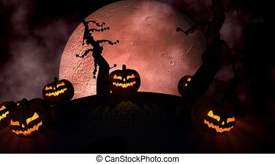 Halloween Background Loop - is funny animated motion...