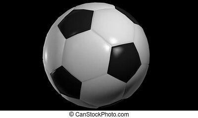 Spinning soccer ball