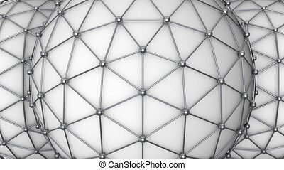 Triangular molecule ball loop - This background is perfect...
