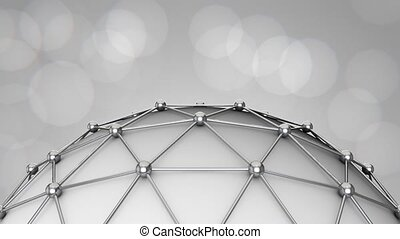 Corporate Triangular Ball Background Loop - This background...