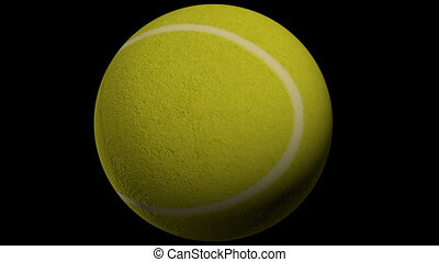 Spinning tennis ball