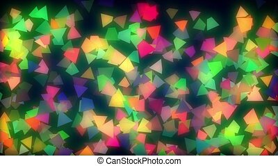 Shiny Pyramids Loop - cool animated abstract footage of...