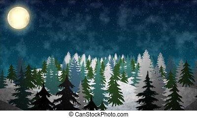 Snowy Hills Background
